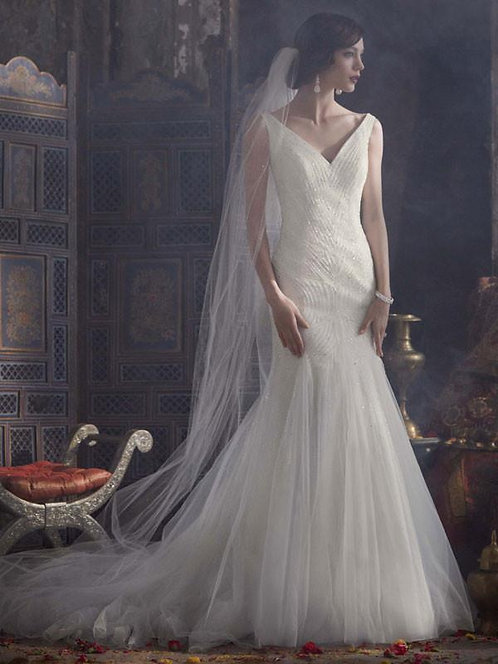 Galina Beaded Tulle Gown