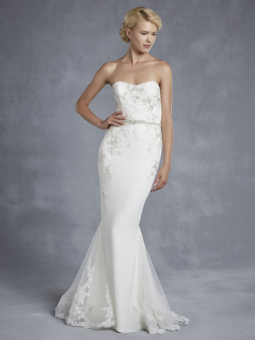 Enzoani Embroidered Gown