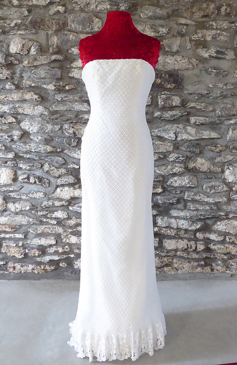 Crochet Strapless Gown