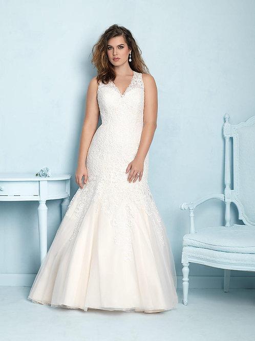 Allure Plus Size Lace Gown
