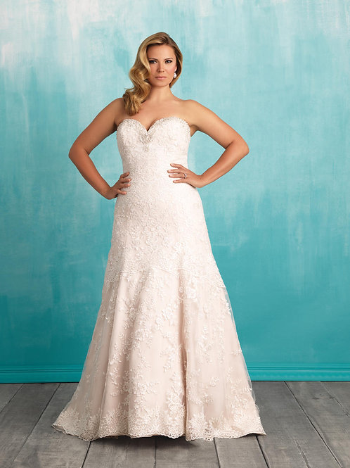 Allure Plus Size 'W373' Gown