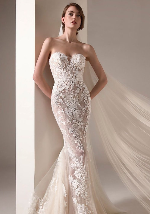 Pronovias Embroidered Lace Gown