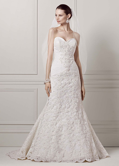 Oleg Cassini Strapless Gown