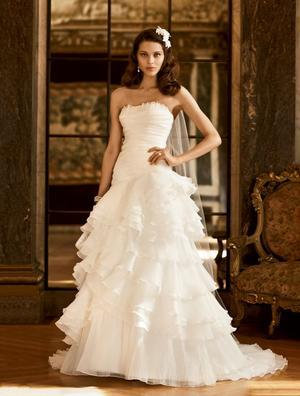 Galina Ruffled Gown