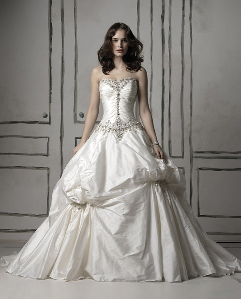 Justin Alexander Silk Ball Gown