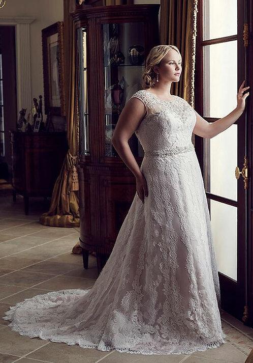Casablanca 'Lilac' Plus Size Gown