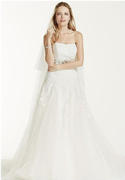 Dropped Waist Lace Gown