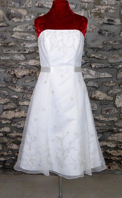Galina Embroidered Short Dress