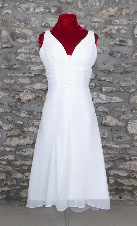 Ruched Beaded Short Dress
