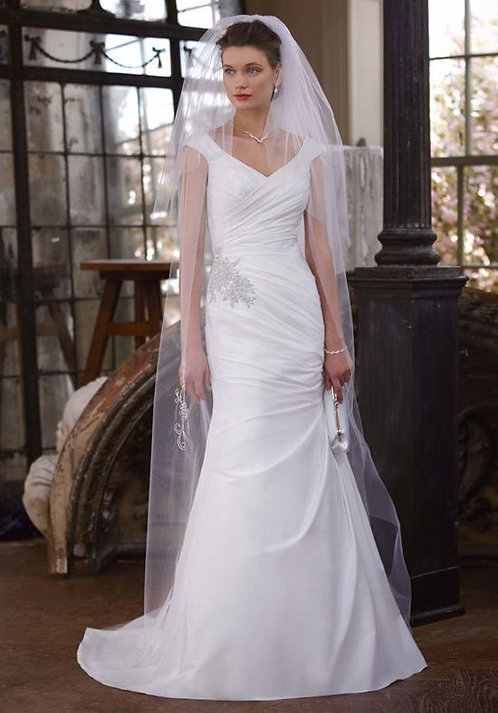 David's Bridal Ruched Gown