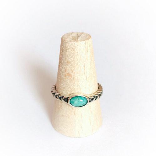 zilveren ring met natuursteen amazoniet