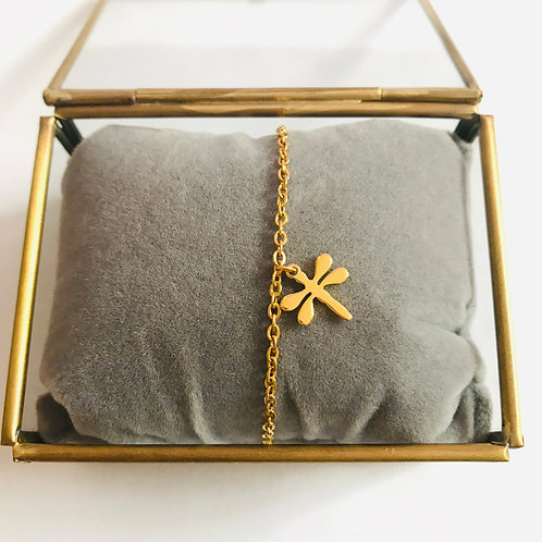 stainless steel armbandje met bedel 'libelle'