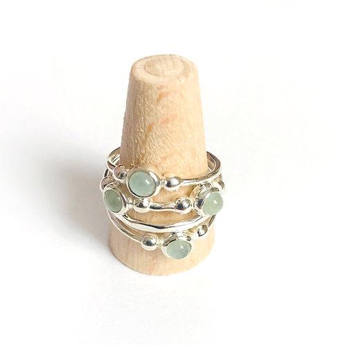 zilveren ring met edelsteen aquamarijn