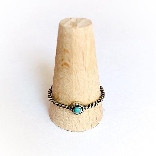 zilveren ring met natuursteen turkoois