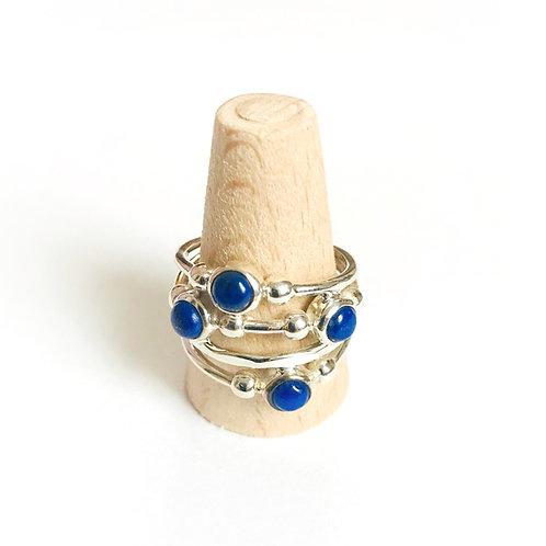 zilveren ring met edelsteen lapis lazuli
