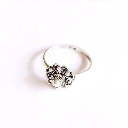 zilveren (925) ring Zeeuwse knop