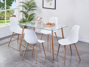 Milana Dining Set - White