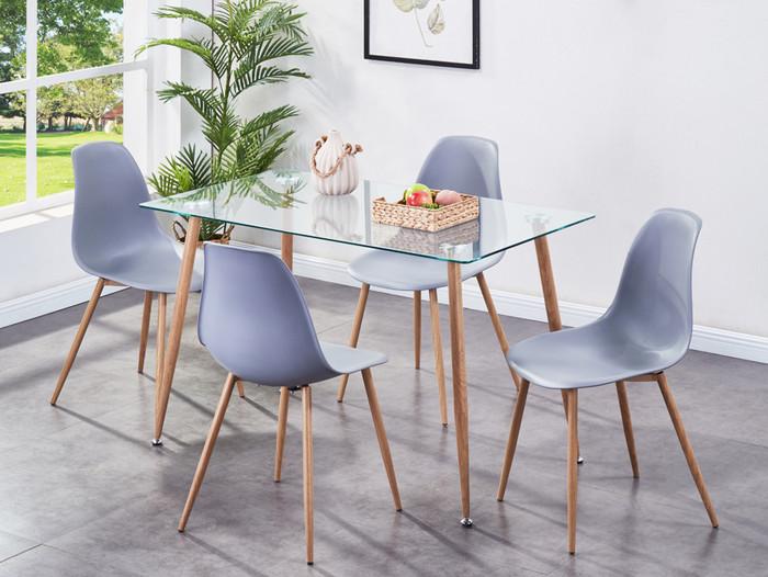 Milana Dining Set- Grey