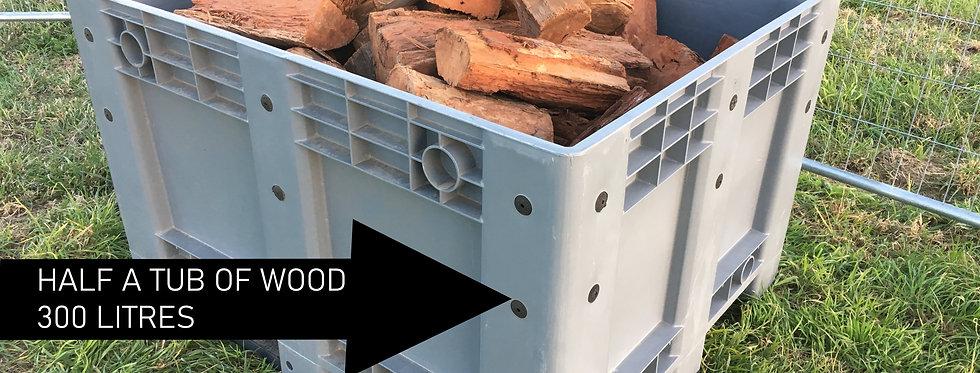 300 Litres (Half Tub) Red Gum Firewood (Collect Murray Bridge)