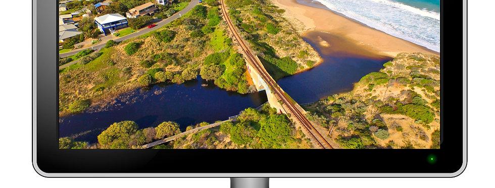 Port Elliot, Hayborough Railway Bridge  - Desktop Wallpaper Screensaver