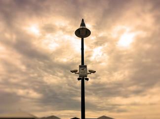 Surveillance Camera Street Light Mount