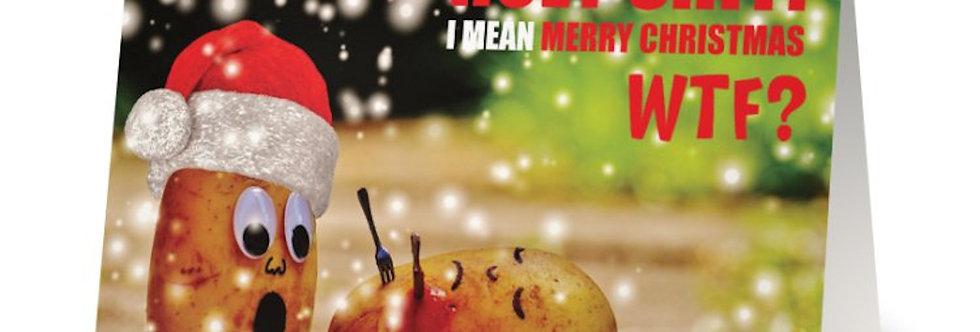 The Atheist Christmas Card, Funny Christmas Card, Holy Shit, Humorous Christmas