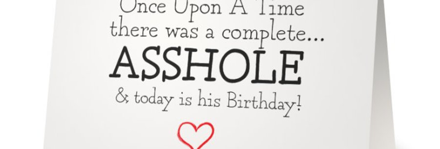 Rude Birthday Card for Husband, Insulting Birthday Card for Friend
