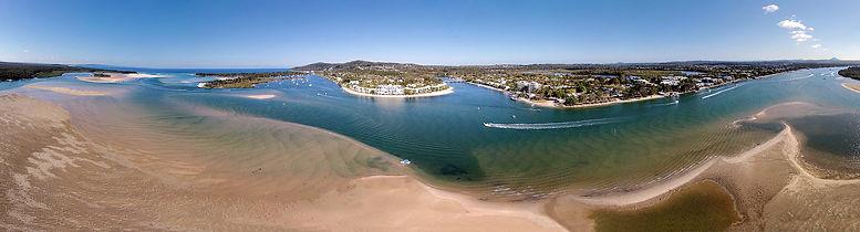 Aerial Panorama Noosa River
