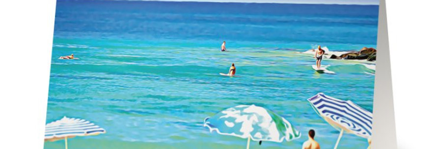 Noosa Heads Abstract Colourful Noosa Greeting Card, Noosa Australia