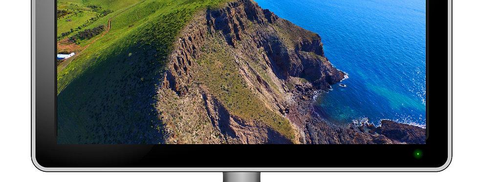 Second Valley Cliffs - Desktop Wallpaper Screensaver