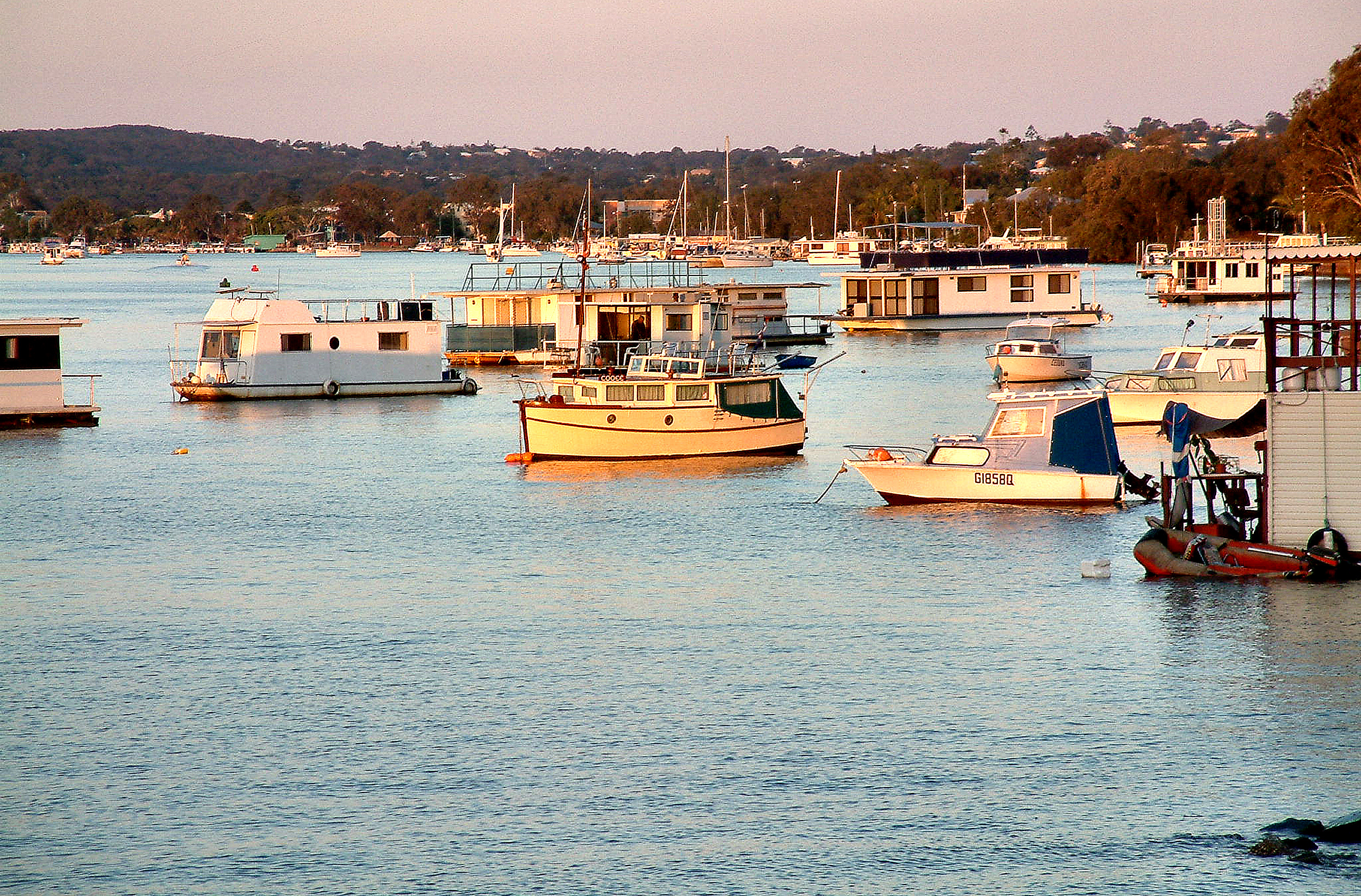 Noosa River on Sunset Photo