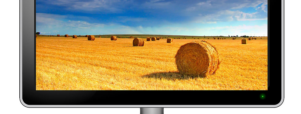 Country Themed Hay Bales - Digital Photo Wallpaper Desktop Screensaver