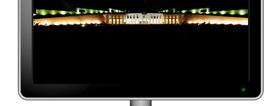 Parliament House Canberra Night - Digital Photo Wallpaper Desktop Screensaver