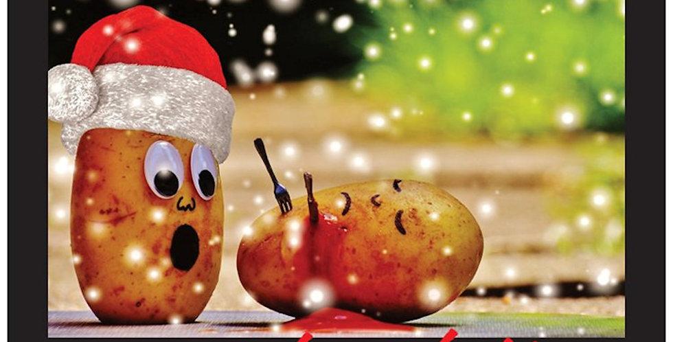 Funny Adult Christmas Card! Funny Christmas Gift Card, Holy Shit,