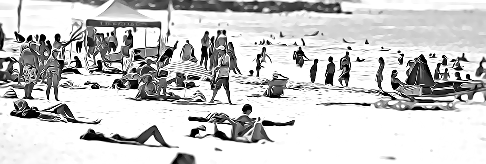 A DAY AT THE BEACH (MONO)