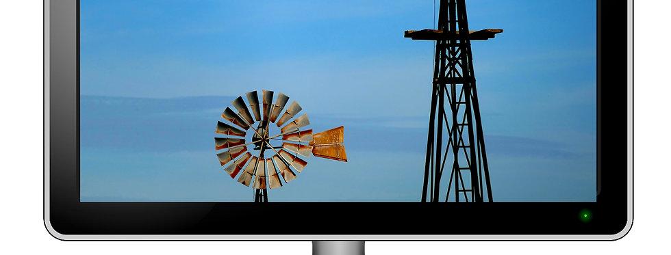 Vintage Windmills - Digital Photo Wallpaper Desktop Screensaver