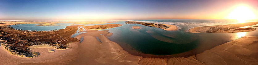 Panorama Aerial Image River Murray Mouth Coorong