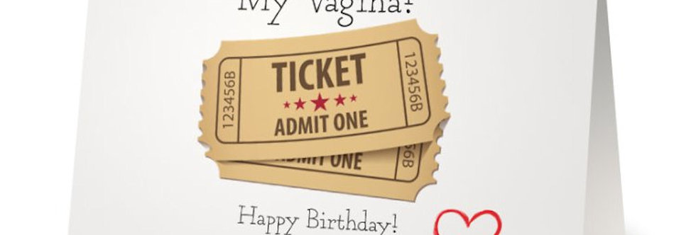 Laugh Out loud Sexy and Rude Lesbian Birthday Card