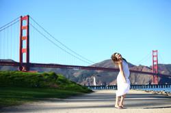 יאנה בצילומים מתחת לגשר הזהב