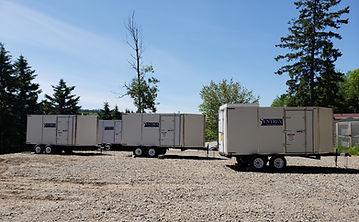 Sentrex SoDAR and LiDAR Remote Power Supplies in a row