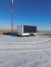 Sentrex SoDAR and LiDAR Power Supply near a tubular tower