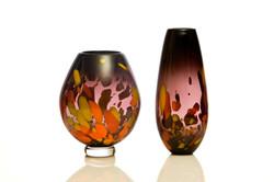 Orange Galaxy Bowl and Vase