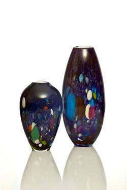 Purple Galaxy Urn and Vase