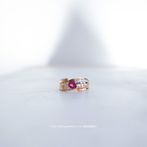 """""""Graceful"""" 18K Gold-filled Synthetic Sapphire Ring"""