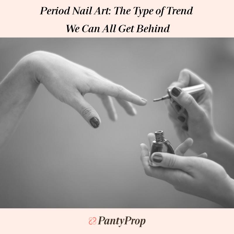 period nails, #periodnails, period nail art, nail art, periods, menstruation, period panties, period swimwear, pantyprop, panty propr