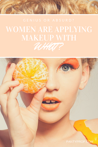 pads to apply makeup, tampons to apply makeup, condoms to apply makeup, beauty, period panties, pantyprop, panty prop