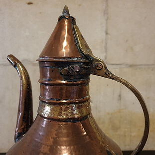 hammered copper kettle