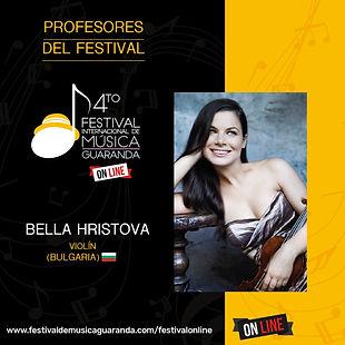 Bella Hristova violin festival Guaranda