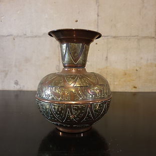 copper & brass vase