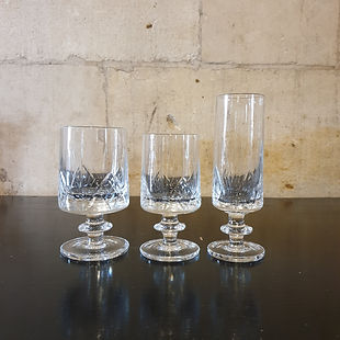italian crystal set of 21